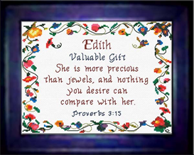 name blessings - edith - chart