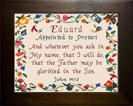 Name Blessing - Eduard   Crafting   Cross-Stitch   Religious