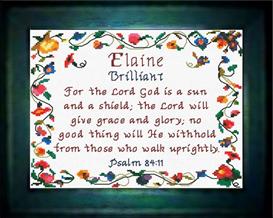 name blessings - elaine