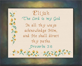 Name Blessings - Elijah | Crafting | Cross-Stitch | Religious