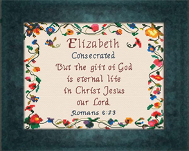 Name Blessings - Elizabeth   Crafting   Cross-Stitch   Religious