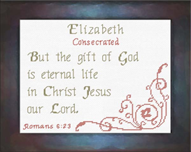 Name Blessings - Elizabeth 2 | Crafting | Cross-Stitch | Religious