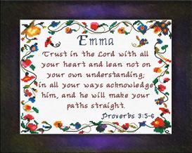 name blessings - emma 2