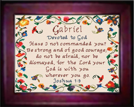 name blessings - gabriel - chart