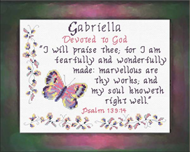 name blessings - gabriella