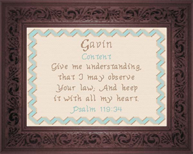 Name Blessings - Gavin   Crafting   Cross-Stitch   Religious