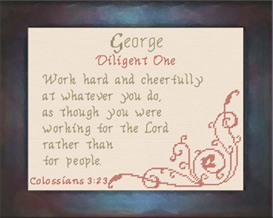 Name Blessings - George | Crafting | Cross-Stitch | Religious