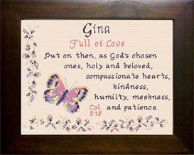 Name Blessings - Gina | Crafting | Cross-Stitch | Religious