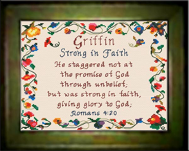 Name Blessings - Griffin | Crafting | Cross-Stitch | Religious