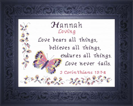 Name Blessing - Hannah 2 | Crafting | Cross-Stitch | Religious