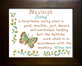 Name Blessing - Hayleigh | Crafting | Cross-Stitch | Other