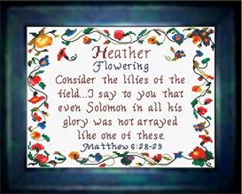 name blessings - heather
