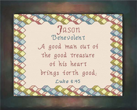 Name Blessings - Jason | Crafting | Cross-Stitch | Other