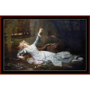 death of ophelia - millaiscross stitch pattern by cross stitch collectibles