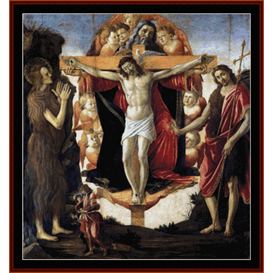 holy trinity- botticelli cross stitch pattern by cross stitch collectibles