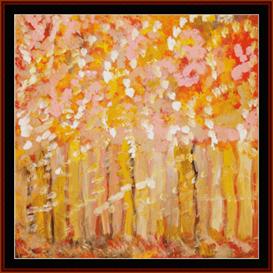 autumn - scharf cross stitch pattern by cross stitch collectibles