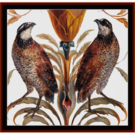 Northern Bobwhite - Wildlife cross stitch pattern by Cross Stitch Collectibles | Crafting | Cross-Stitch | Wall Hangings