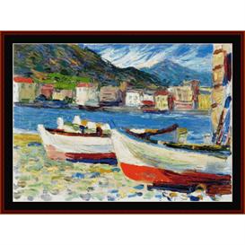 rapallo, boats - kandinsky cross stitch pattern by cross stitch collectibles