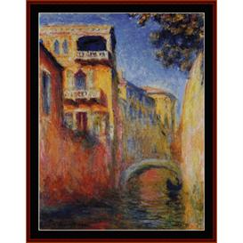 rio della salute - monet cross stitch pattern by cross stitch collectibles
