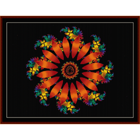 fractal 333 cross stitch pattern by cross stitch collectibles