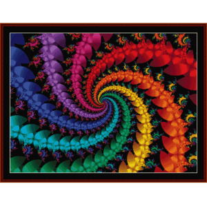 Fractal 332 cross stitch pattern by Cross Stitch Collectibles | Crafting | Cross-Stitch | Wall Hangings