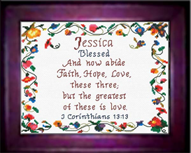 name blessings - jessica - chart