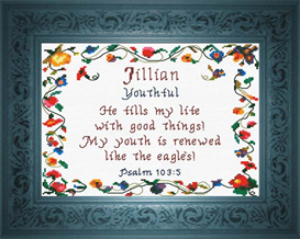 Name Blessings - Jillian | Crafting | Cross-Stitch | Religious