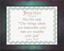Name Blessings - Jonathan | Crafting | Cross-Stitch | Religious