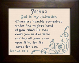 Name Blessings - Joshua 3 | Crafting | Cross-Stitch | Other