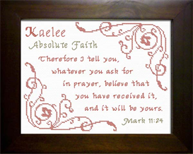 Name Blessings - Kaelee | Crafting | Cross-Stitch | Religious