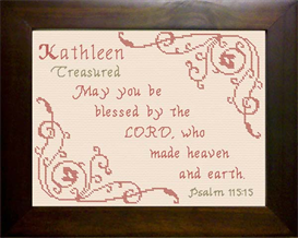 Name Blessings - Kathleen | Crafting | Cross-Stitch | Religious