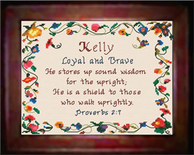 name blessings - kelly - chart