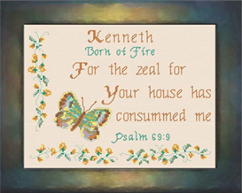 Name Blessings - Kenneth | Crafting | Cross-Stitch | Religious