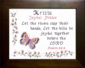 Name Blessing - Krista   Crafting   Cross-Stitch   Religious