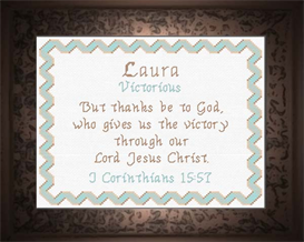 Name Blessings - Laura   Crafting   Cross-Stitch   Religious
