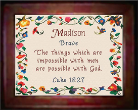 name blessings - madison - chart