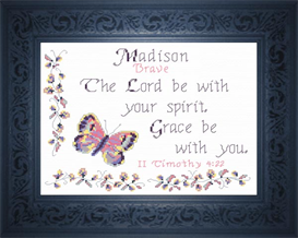 Name Blessing - Madison 3 | Crafting | Cross-Stitch | Religious