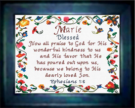 name blessings - marie - chart