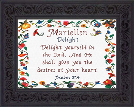 Name Blessings - Mariellen   Crafting   Cross-Stitch   Other
