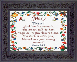 name blessings - mary - chart