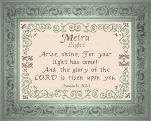 name blessing - meira