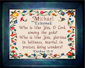 name blessings - michael - chart