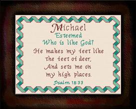 name blessings - michael2