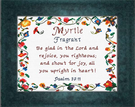 Name Blessings - Myrtle | Crafting | Cross-Stitch | Religious