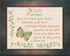 Name Blessings - Nicole | Crafting | Cross-Stitch | Religious