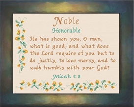 name blessings - noble