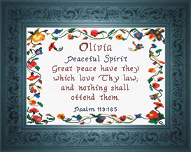 Name Blessings - Olivia | Crafting | Cross-Stitch | Religious