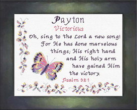 Name Blessings - Payton   Crafting   Cross-Stitch   Other
