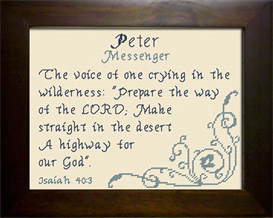 name blessing - peter