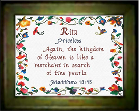 Name Blessings - Rita - Chart | Crafting | Cross-Stitch | Religious
